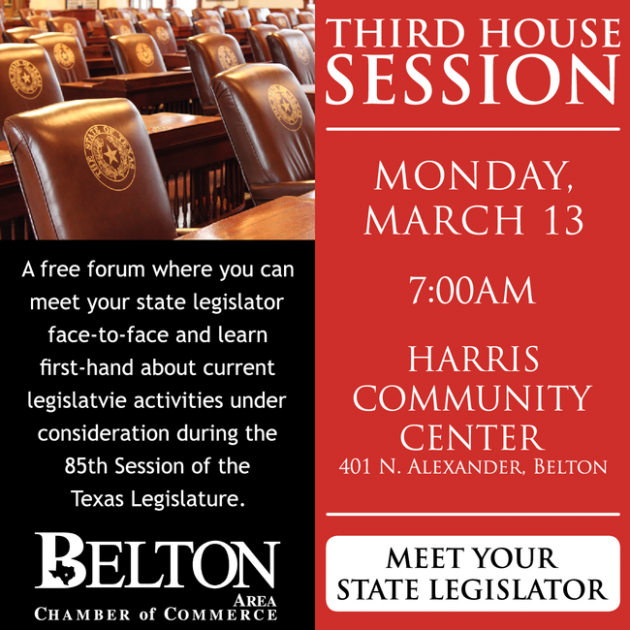 Belton Chamber Meeting, Monday, March 13, 2017